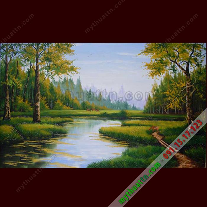 Tranh phong cảnh sơn dầu 073