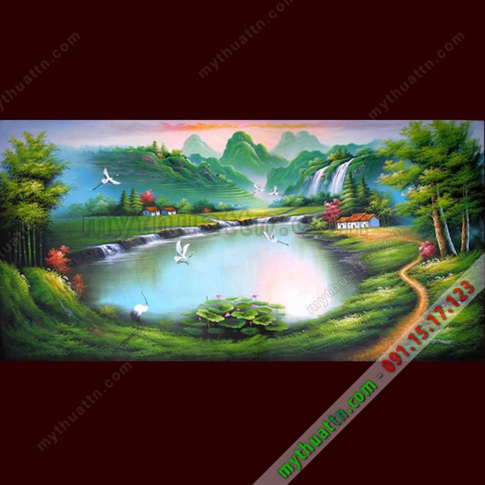 Tranh phong cảnh sơn dầu 074