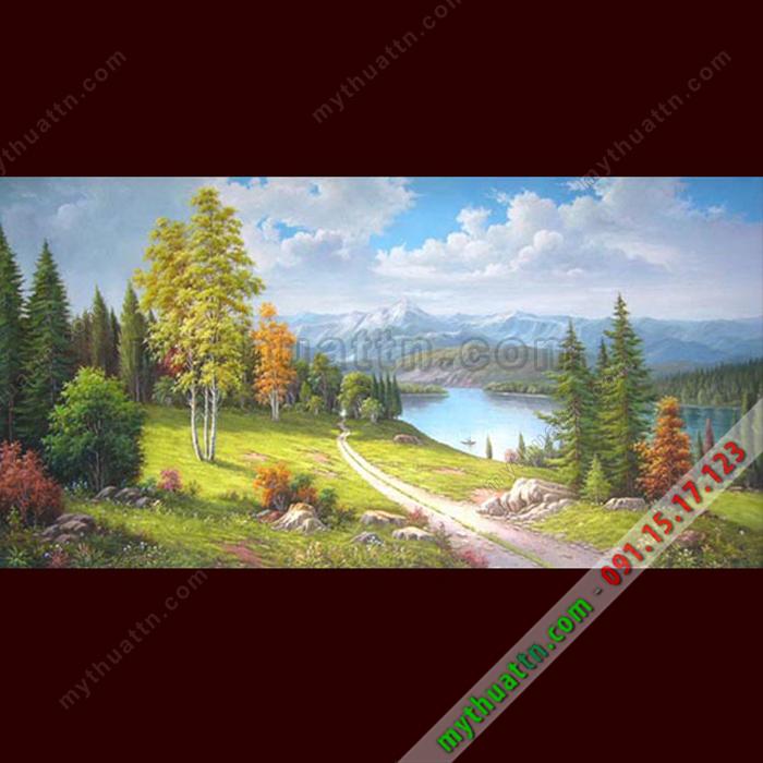 Tranh phong cảnh sơn dầu 076
