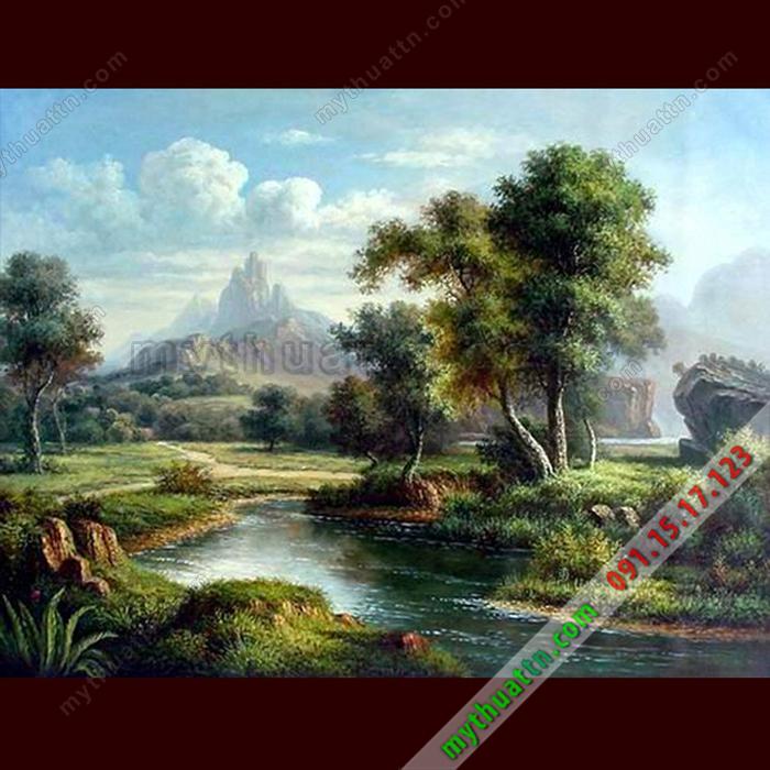 Tranh phong cảnh sơn dầu 079