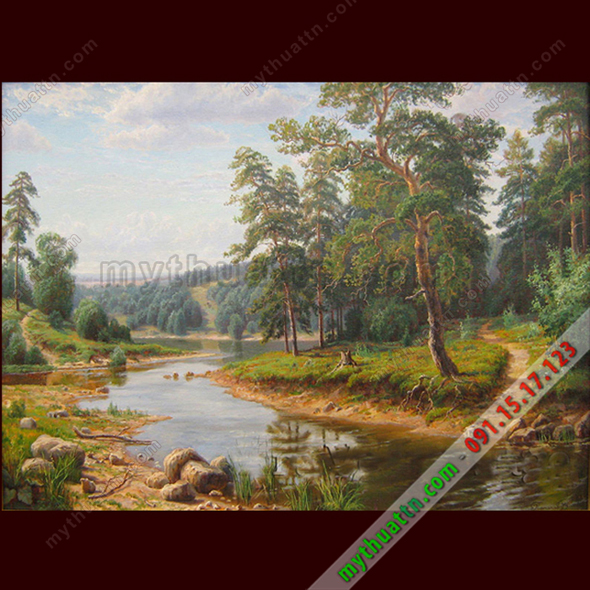 Tranh phong cảnh sơn dầu 081