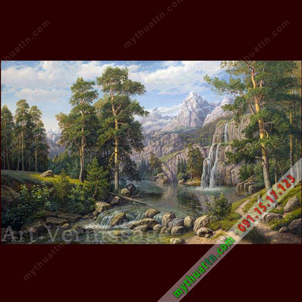 Tranh phong cảnh sơn dầu 083