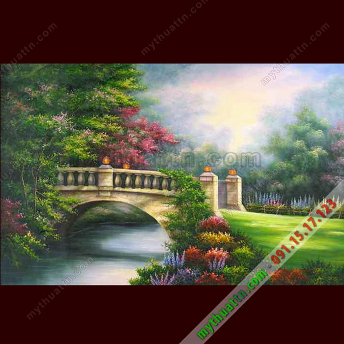 Tranh phong cảnh sơn dầu 084