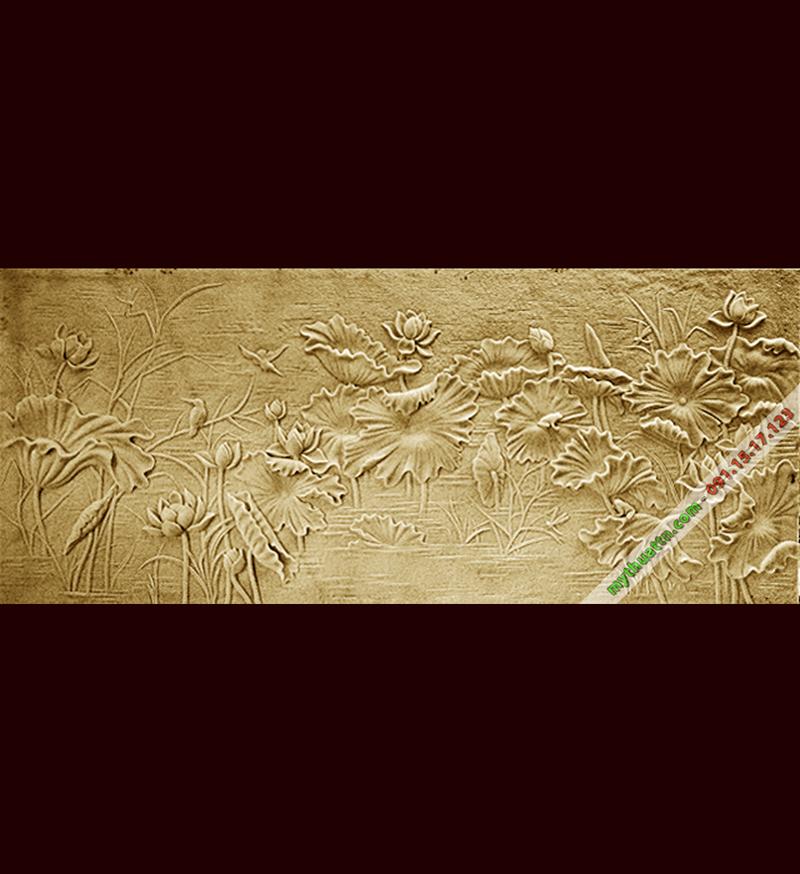 Tranh phù điêu đầm sen đẹp 025 tại Hà Nam