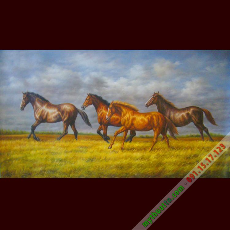 Tranh sơn dầu mã đáo thành công 028