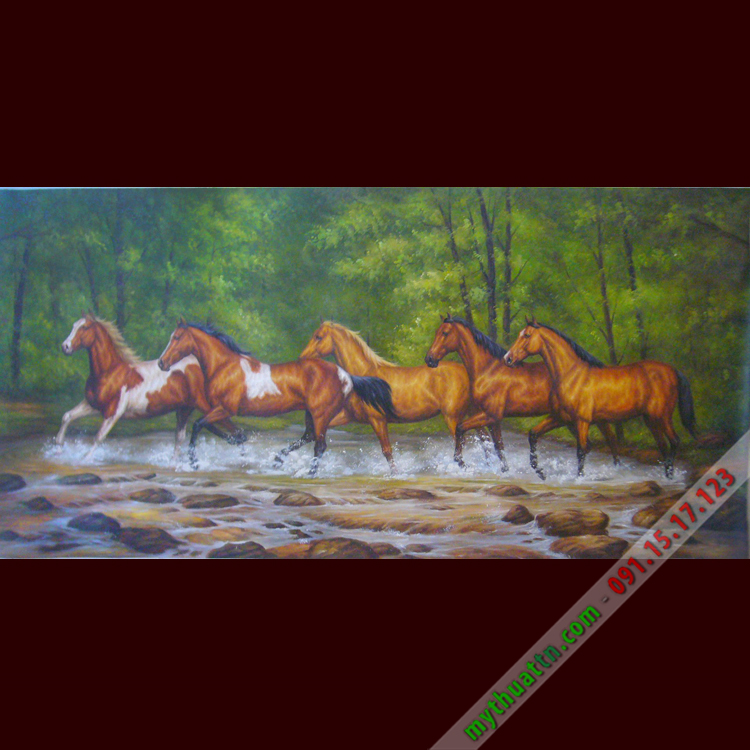 Tranh sơn dầu mã đáo thành công 029