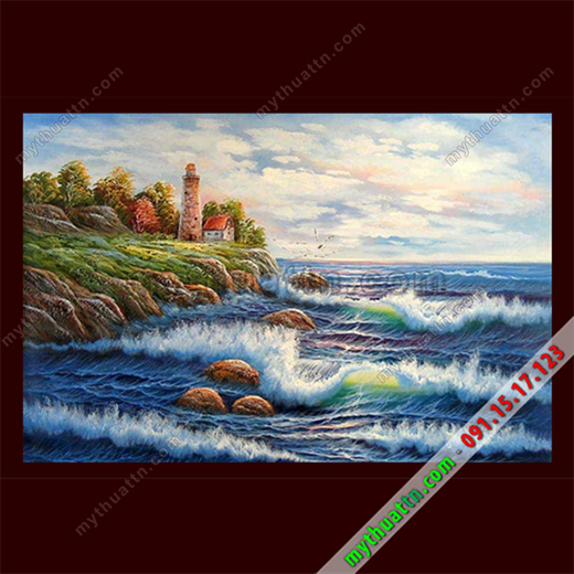 Tranh sơn dầu Ngọn Hải Đăng 1