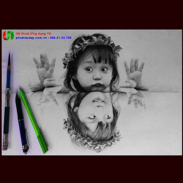 Vẽ chân dung em bé bằng bút chì