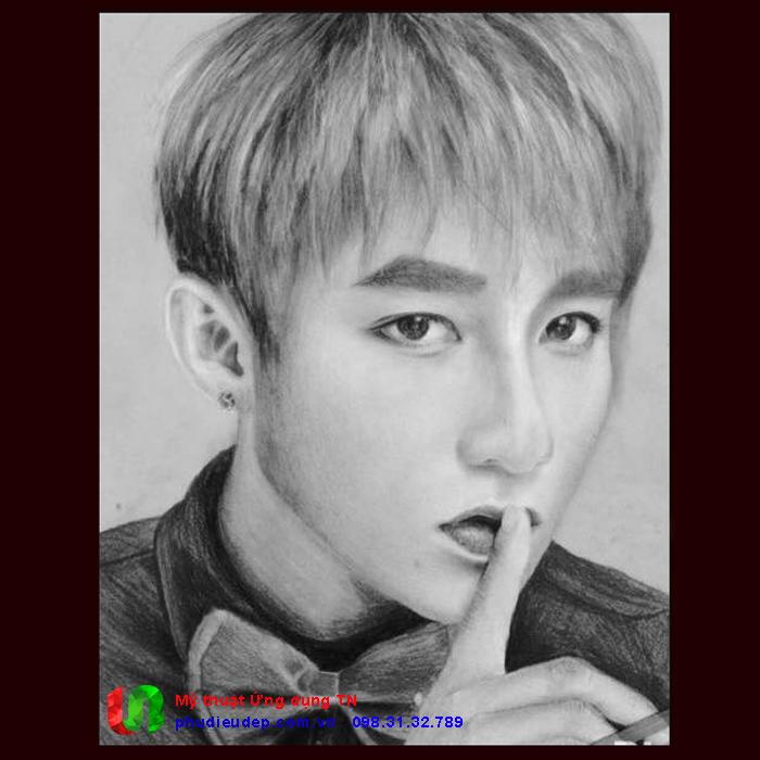 Vẽ chân dung chì ca sĩ Sơn Tùng M-TP