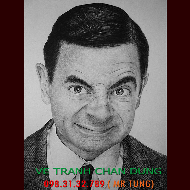 Tranh chân dung Mr Bean 006