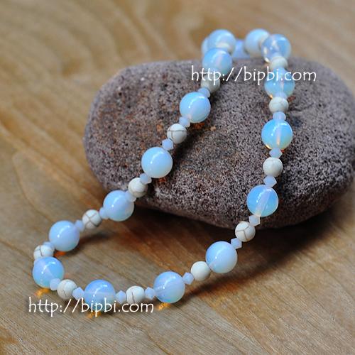 NE002 - Handmade gemstone necklace
