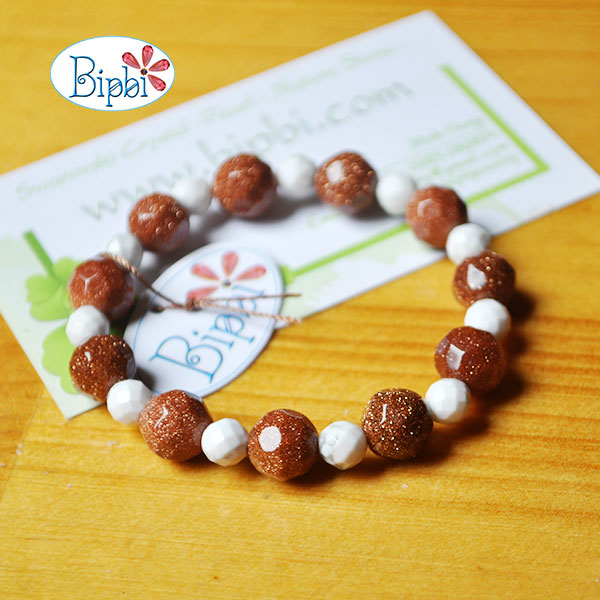 BR003 - Handmade goldsand bracelet