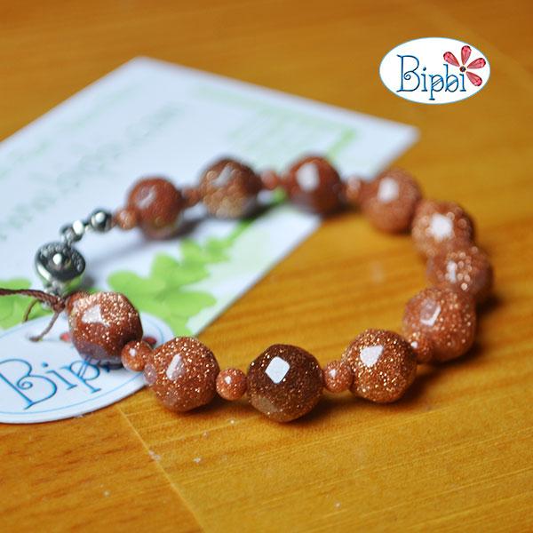 BR006 - Handmade goldsand bracelet