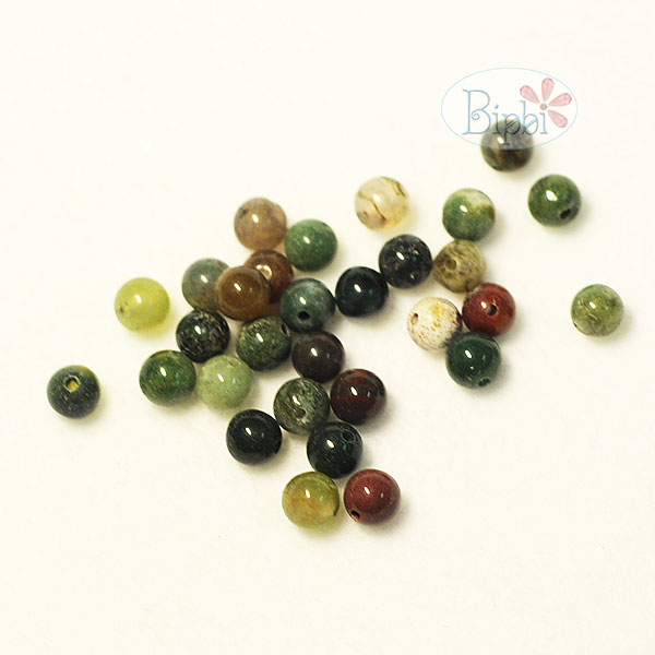 ST003 - 6mm black agate beads