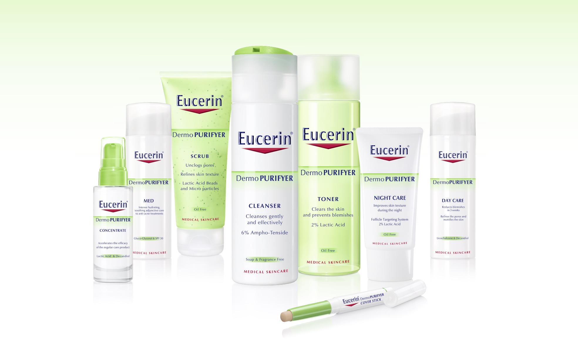 Sữa rửa mặt cho da nhờn Eucerin Dermo Purifyer