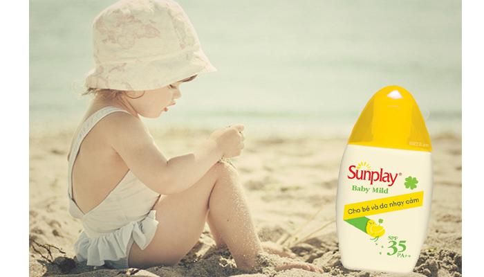 Kết quả hình ảnh cho Sunplay Baby Mild SPF35 PA++