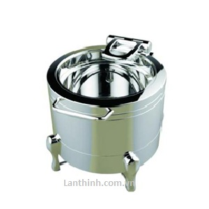 Silver Steel Round Soup Station- Item code: GB-5684-A.  Stand- GB-5684-B