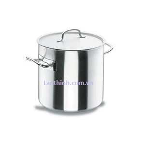 Stock pot with lid, SS, 11 sizes: 6 - 198 lt