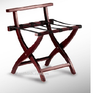 Wood luggage rack in Mahogany color, 3311200