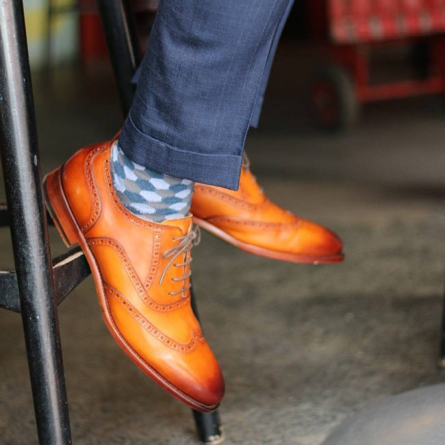 Goodyear welt handmade shoes - Wingtip