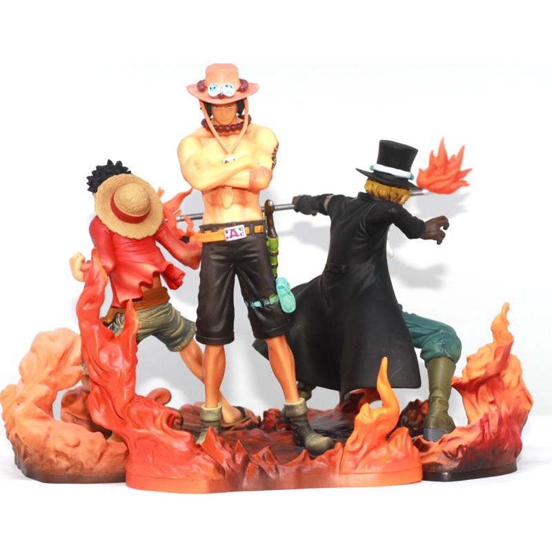 Bộ mô hình Luffy - Sabo - Ace đồng tâm hợp lực NO.904