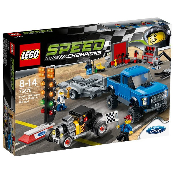 LEGO Speed Champions - Xe Đua Ford F-150 Raptor Và Ford Model A Hot Rod 75875