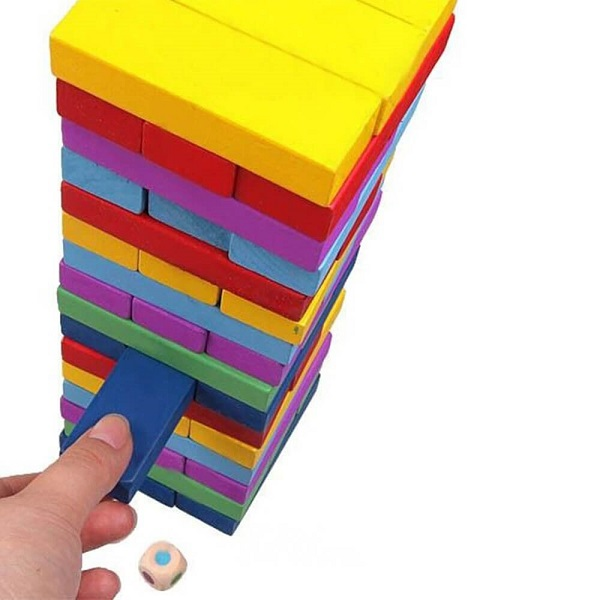 Đồ chơi Board Game BG1040 Rút Gỗ Jenga Màu