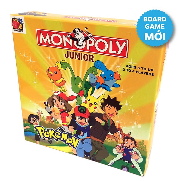 Đồ chơi Board game BG1026 Monopoly Junior Pokemon - Cờ Tỷ Phú Pokemon