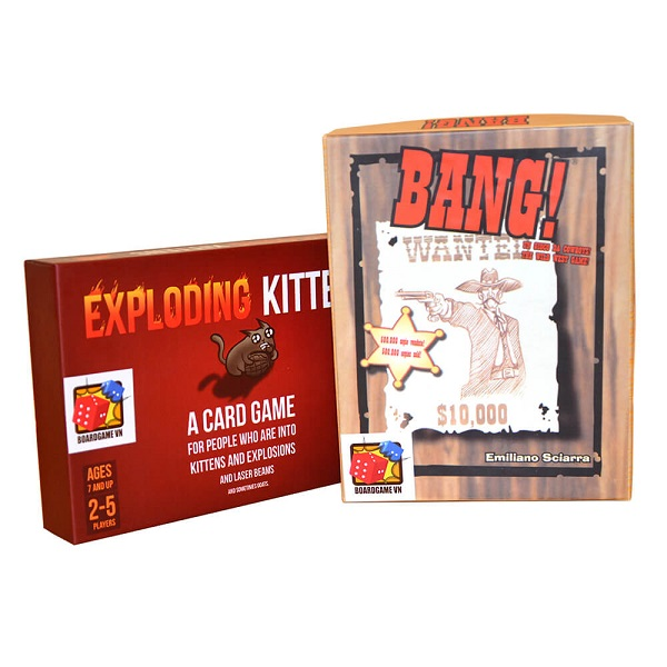 Board Game CBBG11 Combo Exploding Kittens & Bang!