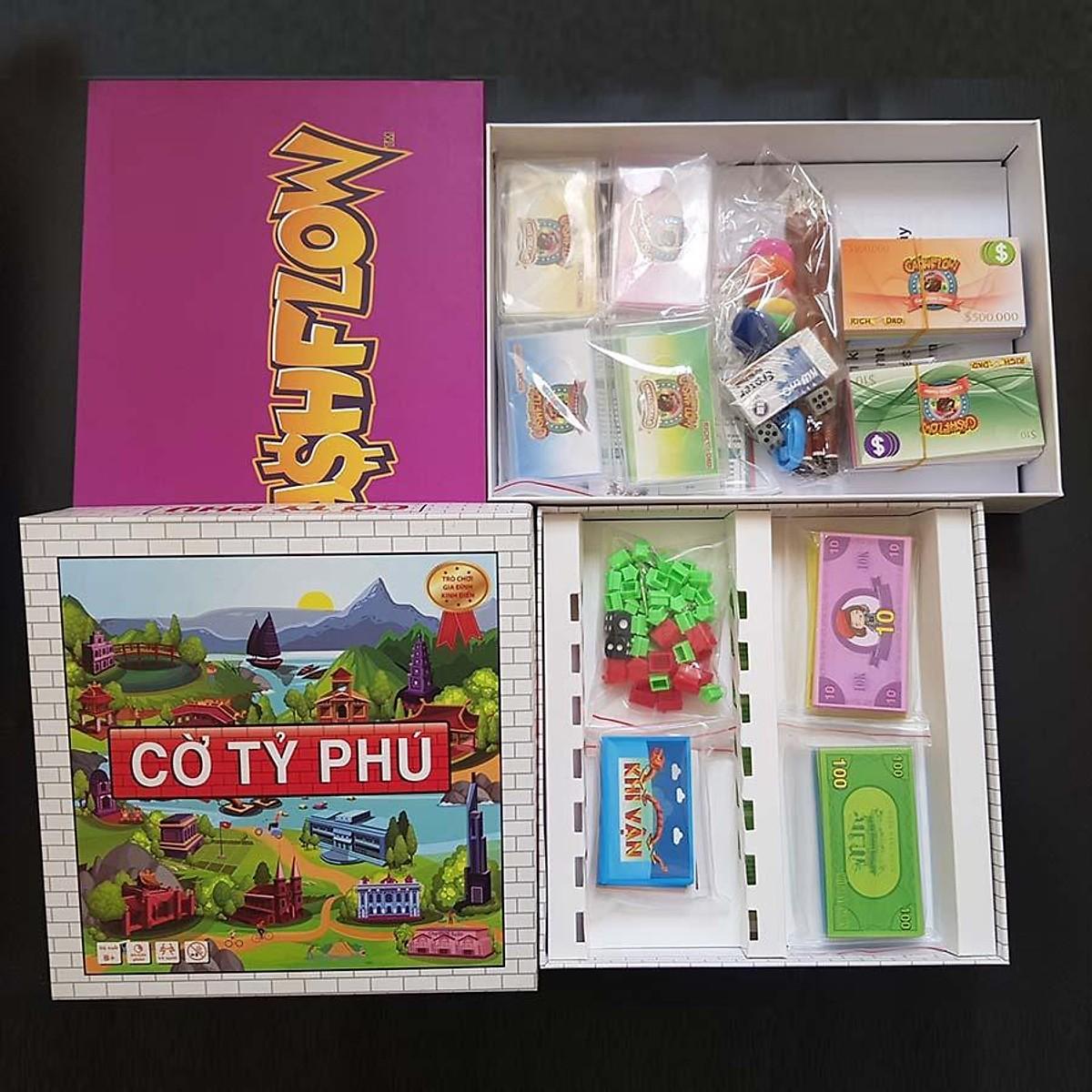 Combo dạy con làm giàu: Cờ Tỷ Phú Việt Nam + Game Cashflow Hộp Cứng bản đặc biệt