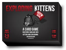 Exploding Kittens - Mèo Nổ phiên bản 18+ màu đen cơ bản