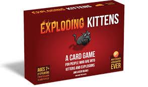 Exploding Kittens - Mèo Nổ phiên bản 7+ màu đỏ cơ bản