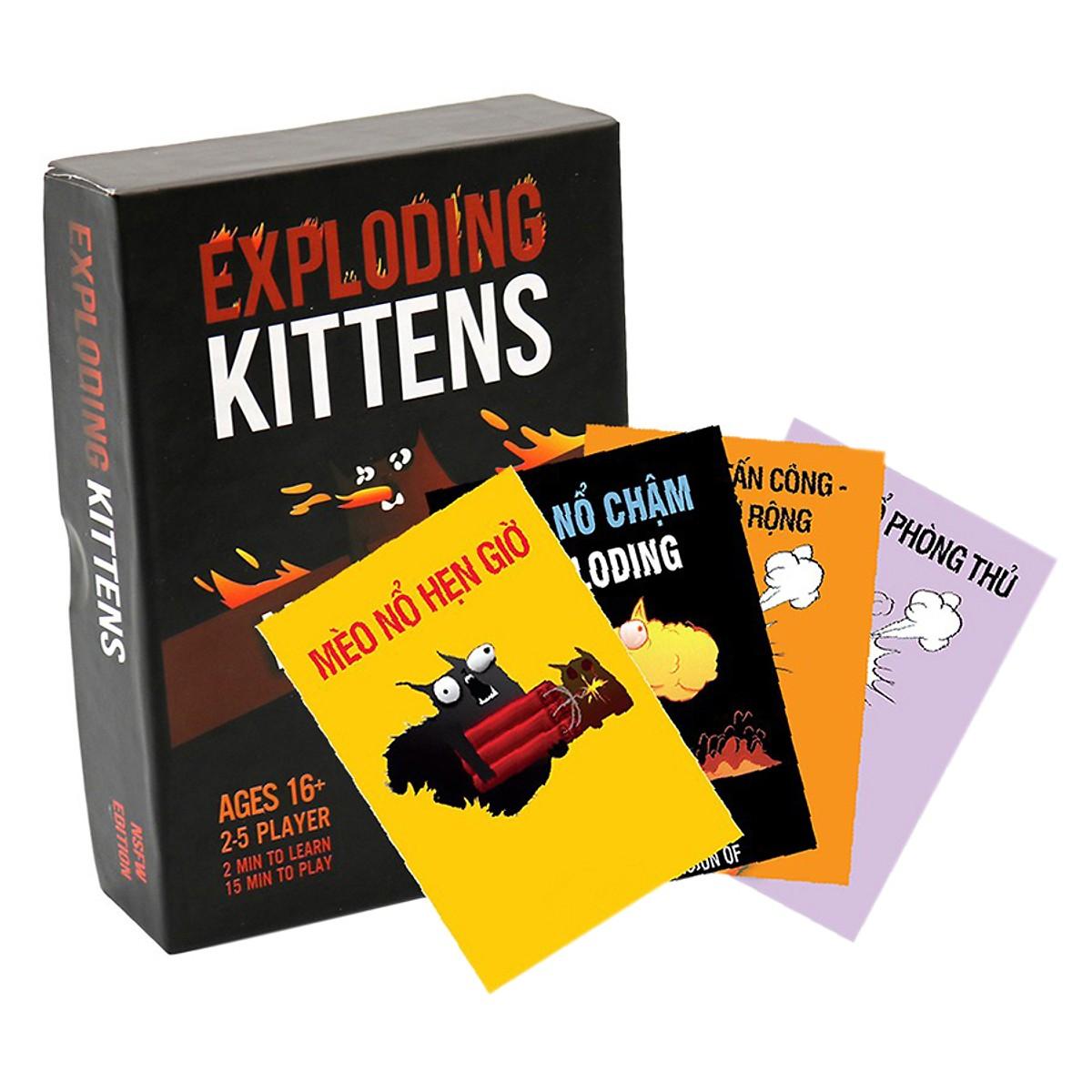 Set Mèo Nổ Tưng Bừng: Combo Mèo nổ + 4 Bản mở rộng (18+)