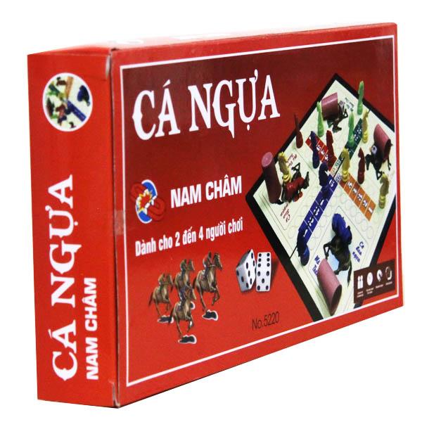 Bộ trò chơi cờ cá ngựa nam châm cỡ lớn màu đỏ NO5220