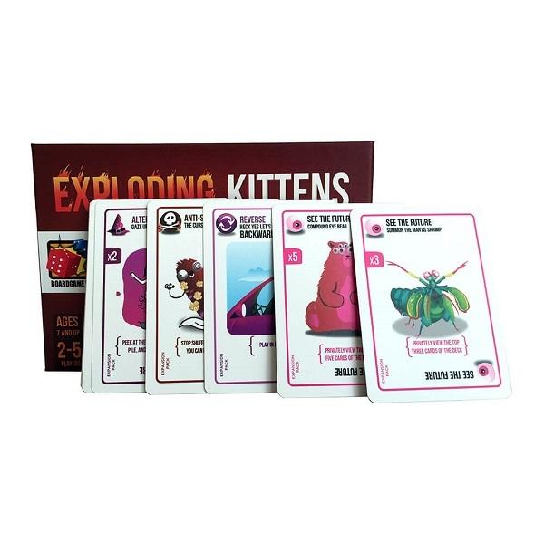 Trò chơi Board Game BG1012 - Mèo Nổ Bản Mở Rộng #1 Defending Kittens