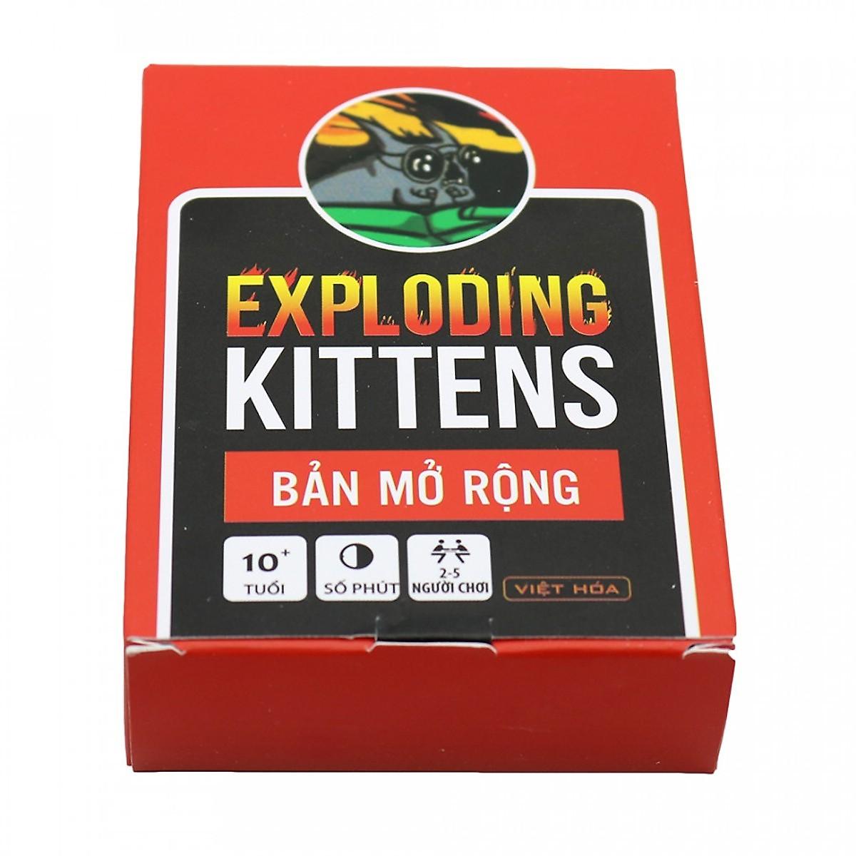 Combo Mèo Nổ Exploding Kittens + 4 Bản Mở Rộng + Bọc Bài