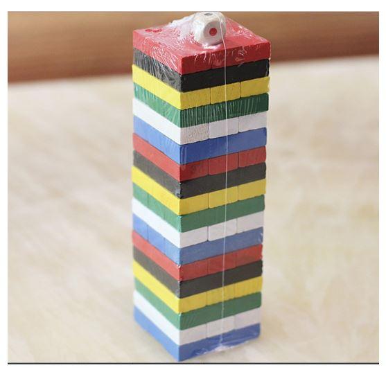 Đồ chơi gỗ rút gỗ màu cỡ lớn 23 cm