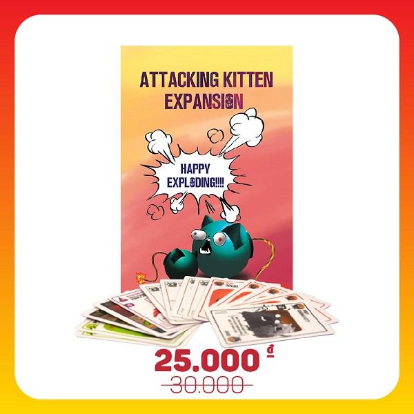 Trò chơi Board Game BG1013 Mèo Nổ Bản Mở Rộng #2 Attacking Kittens