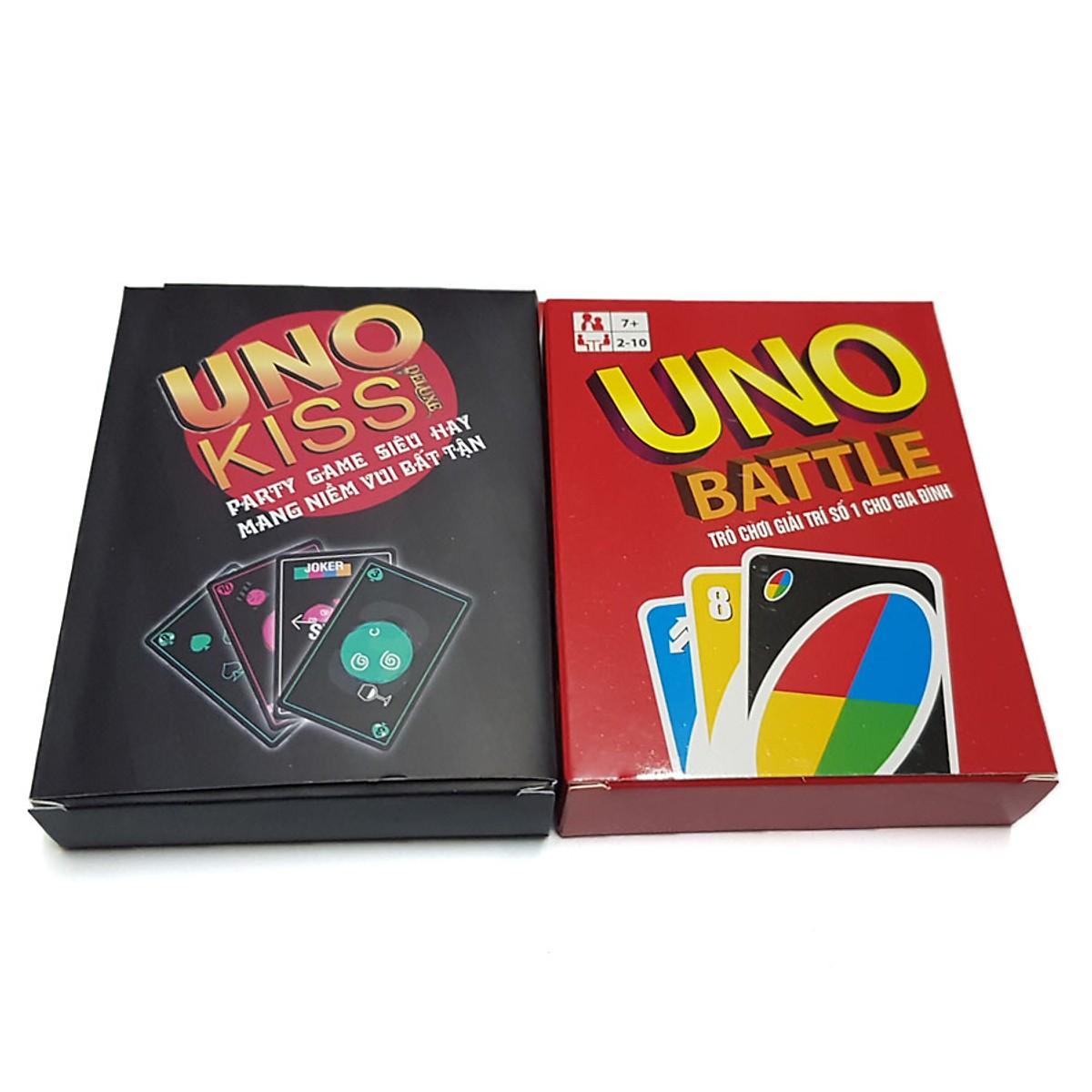 Combo Bộ Bài Uno Kinh Điển (Uno Battle + Uno Kiss Việt Hóa)