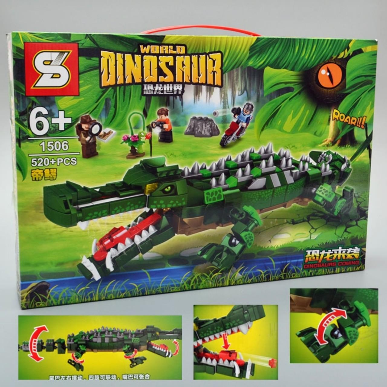 Đồ chơi lắp ráp lego cá sấu khổng lồ - 1506