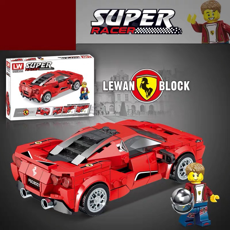 Lắp ráp Lego xe thể thao Racing 358 chi tiết - LY 7802