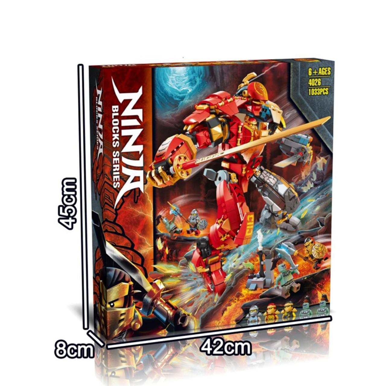 Đồ chơi LEGO NINJAGO Chiến Giáp Hợp Thể Của Kai & Cole 1033 miếng ghép - 4026