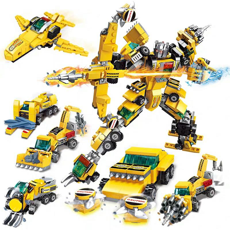 Lắp ráp lego 6 trong 1 Robot biến hình 545 Chi Tiết - JIQILE 41025A