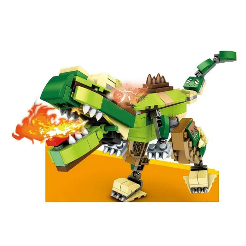 Lắp ráp lego khủng long biến hình robot - 98009