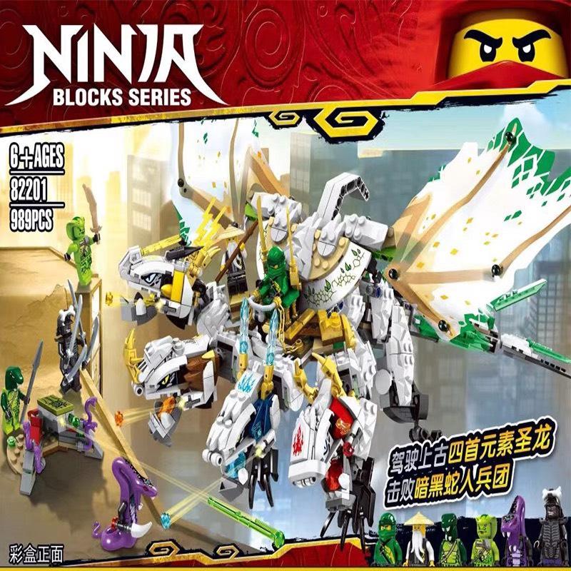 Đồ chơi lắp ráp lego Ninjago Rồng bốn đầu 989 chi tiết - 82201