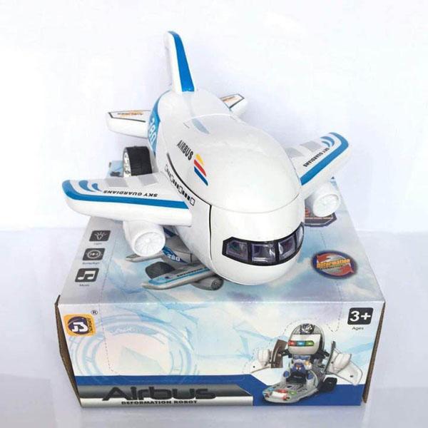 Máy bay biến hình thành robot phát nhạc cho bé 8995A