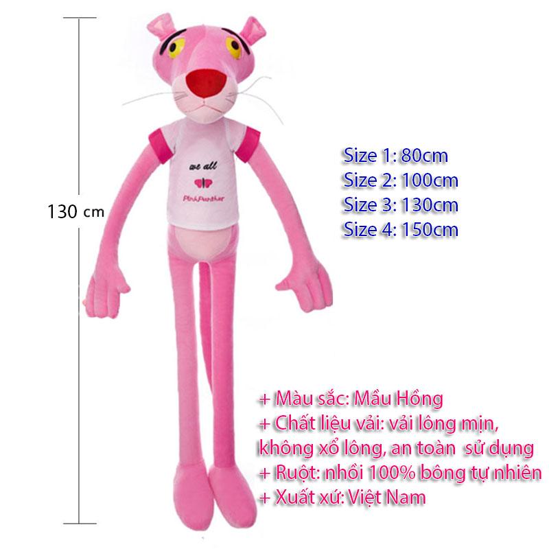 Gấu bông Báo Hồng - 130 cm