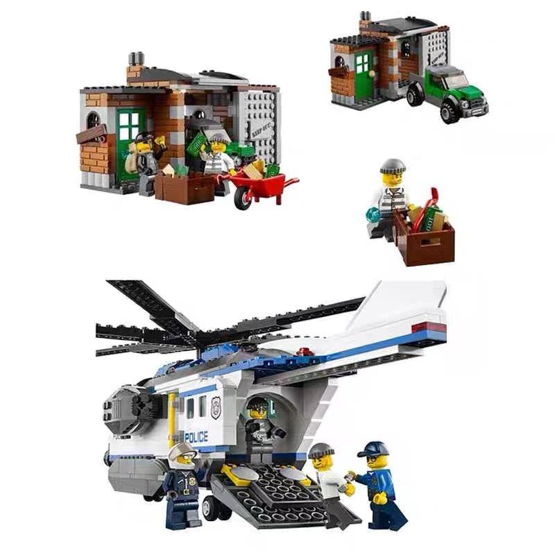 Lắp ráp Lego City máy bay cảnh sát 528 miếng ghép - BELA 10423