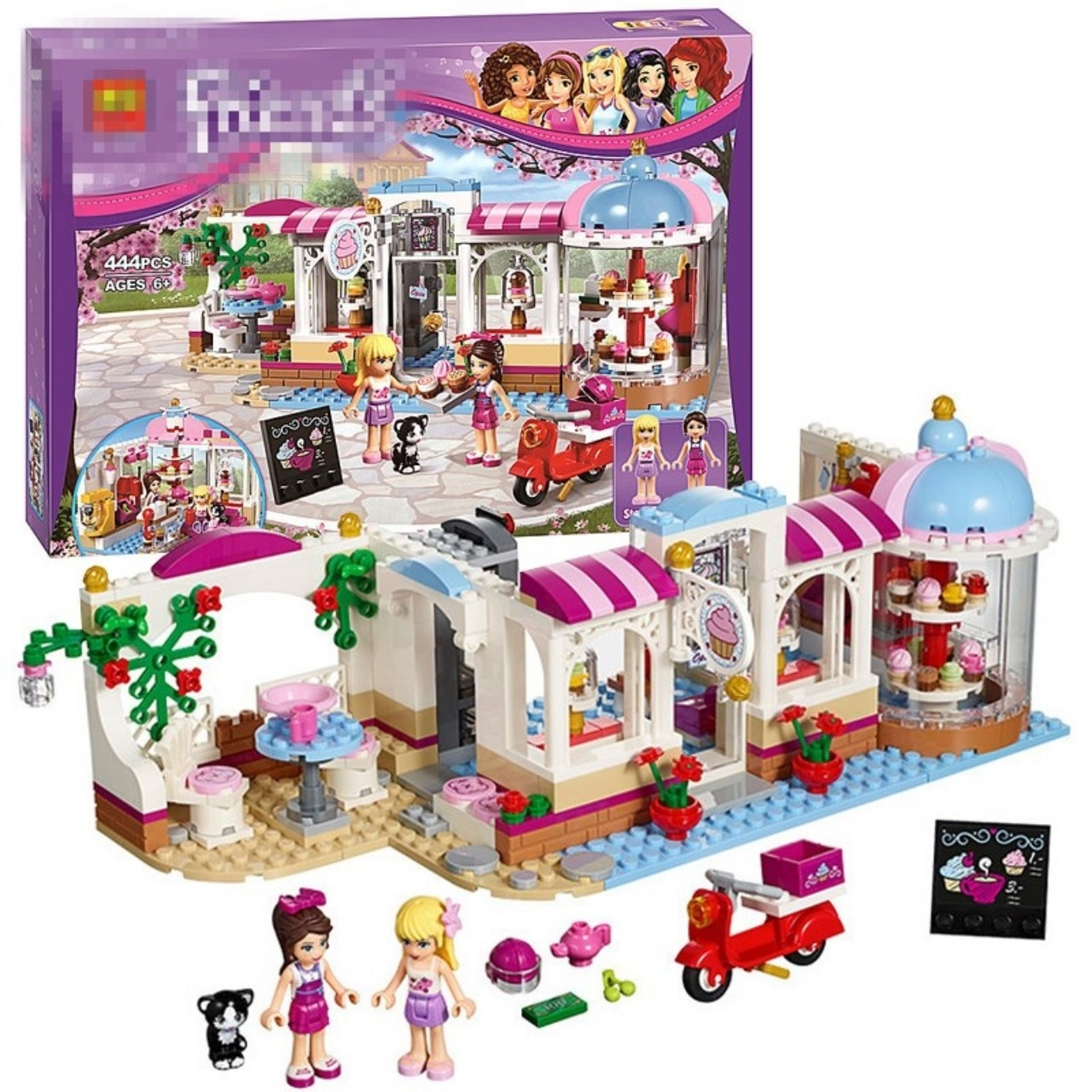 Lego Friends Tiệm bánh ngọt cupcake - Bela 10496