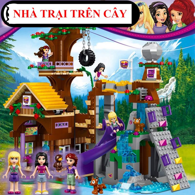 Đồ chơi Lego Friends Nhà trại trên cây 739 chi tiết - BELA 10497